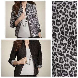 CHICO'S | Reversible Leopard Print Cardigan Jacket